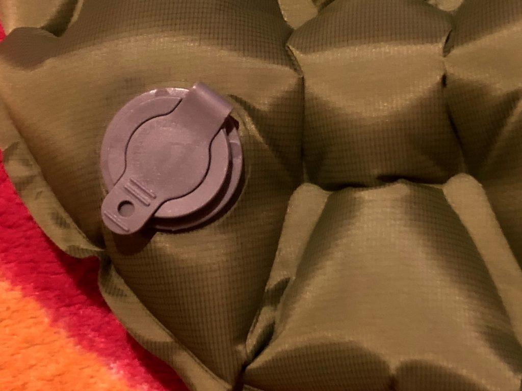 Detailní pohled na ventil